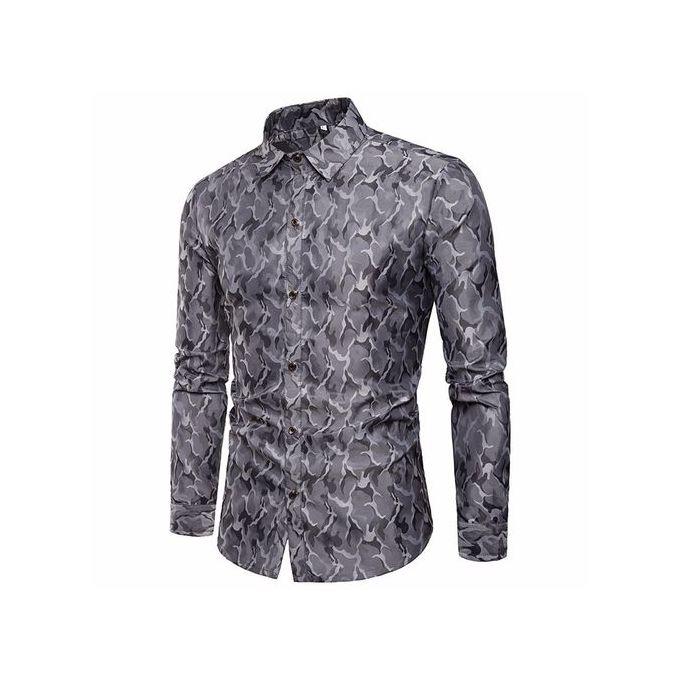 e01f097b Men's Shirt Slim Fit Stripe Long Sleeve Casual Button Shirts Formal Top  Blouse