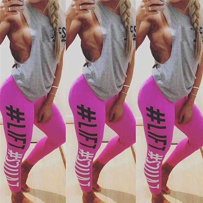 4c881da5a6db4 ... Pink Hiaojbk Store Women's Fashion Workout Leggings Fitness Sports Gym  Running Yoga Athletic Pants-Hot ...