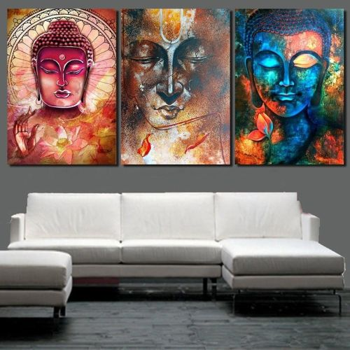 Universal Home Decor Canvas Print Painting Wall Art Buddha Statue Meditation No Frame