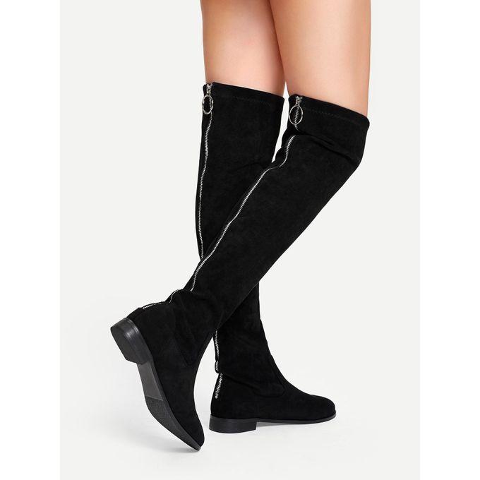 0b00eca488 Sale on Solid Suede Knee Length Boots   Jumia Egypt