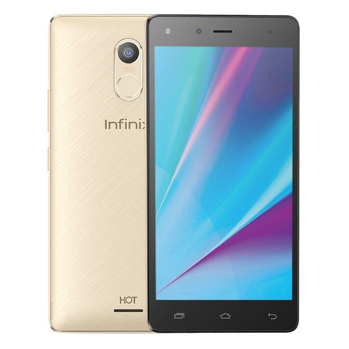 موبايل X556 Hot 4 Pro LTE - 5.5 بوصة ثنائى الشريحة - ذهبي