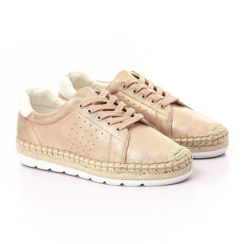 Sale on Shinny Rose Gold Espadrille Sneakers