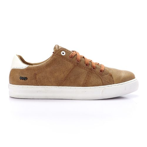 Striped Lace Up Shoes - Camel