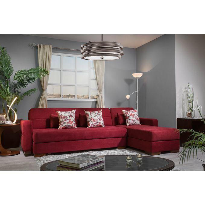 Kabbani Tolido L Shape Sofa Bed Dark Red Buy Online Jumia Egypt