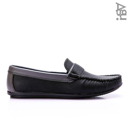 حذاء كاجوال سهل الارتداء - اسود ورمادي