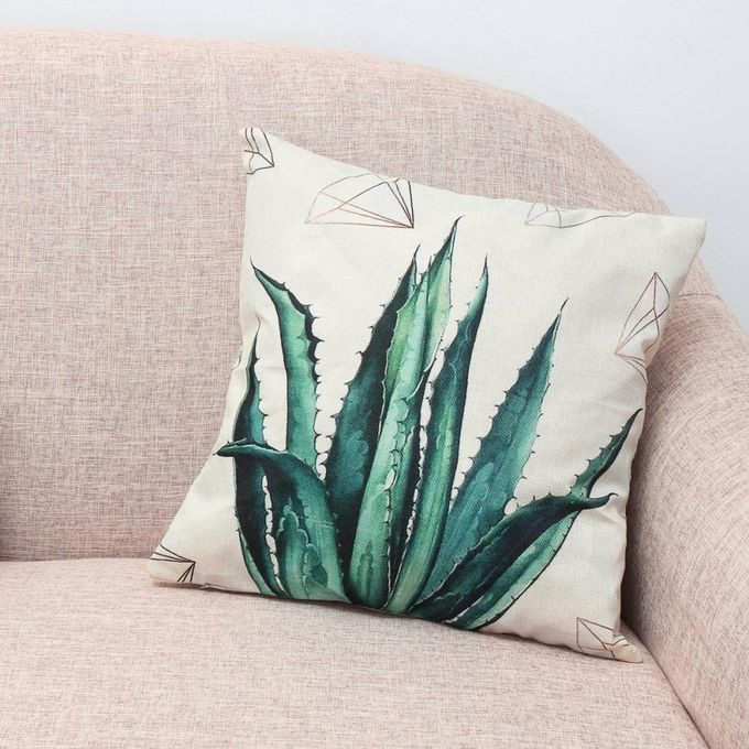 New Fresh Plants Sofa Bed Car Coffee Home Decor Pillow Case Cushion Cover Aloe –  مصر