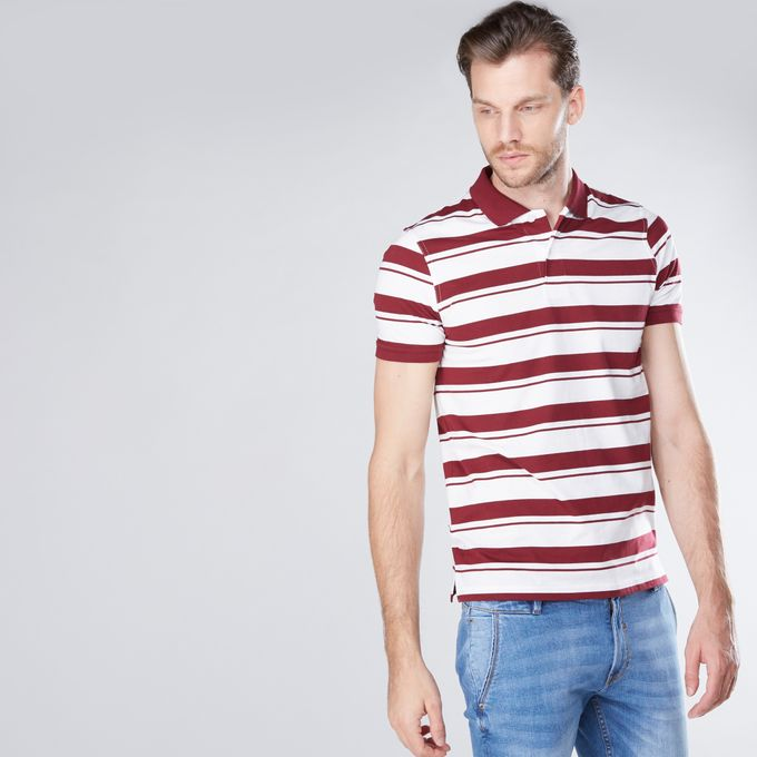 cd30941f0d421b Jumia Anniversary Deal! Sale on Striped T-Shirt With Polo Neck And ...
