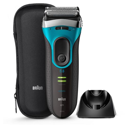 Braun Series 3 ProSkin 3080s Rechargeable Wet   Dry Electric Shaver - Blue  Black 8c0e4927ff01