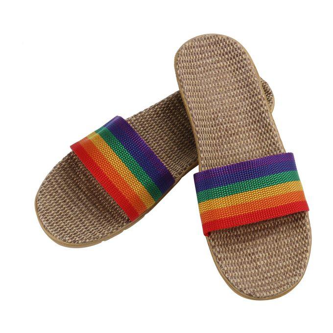 3f9bb933a7d5 Xiuxingzi Women Men Anti-slip Linen Home Indoor Summer Open Toe Flats Shoes  Slippers