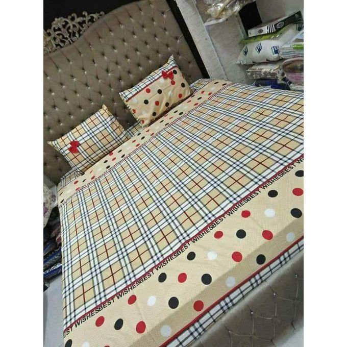 Bed Sheet Set – 5 Pcs – Beige –  مصر
