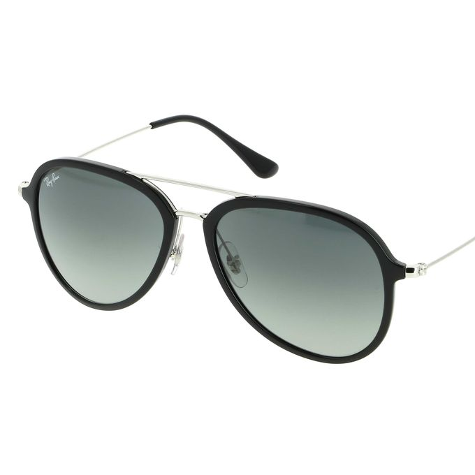 4a68be73bb2d14 Ray-Ban Contemporary Pilot Sunglasses In Black Grey Gradient RB4298 601 71