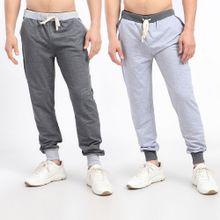dcdf585be Bundle Of 2 Elastic Waist With Drawstring Sweatpants With Hem - Grey &  Dark Grey