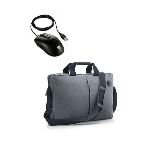 b34f0385e V1S46AA X900 ماوس يو اس بي - أسود - HP حقيبة لاب توب K0B38AA - 15.6 ...