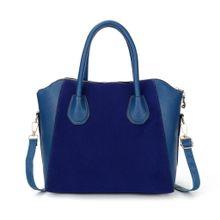 384f8d0c52855 Top-Handle Bags Fashion Bags Patchwork Nubuck Leather Women  039 s Handbag  Smiley