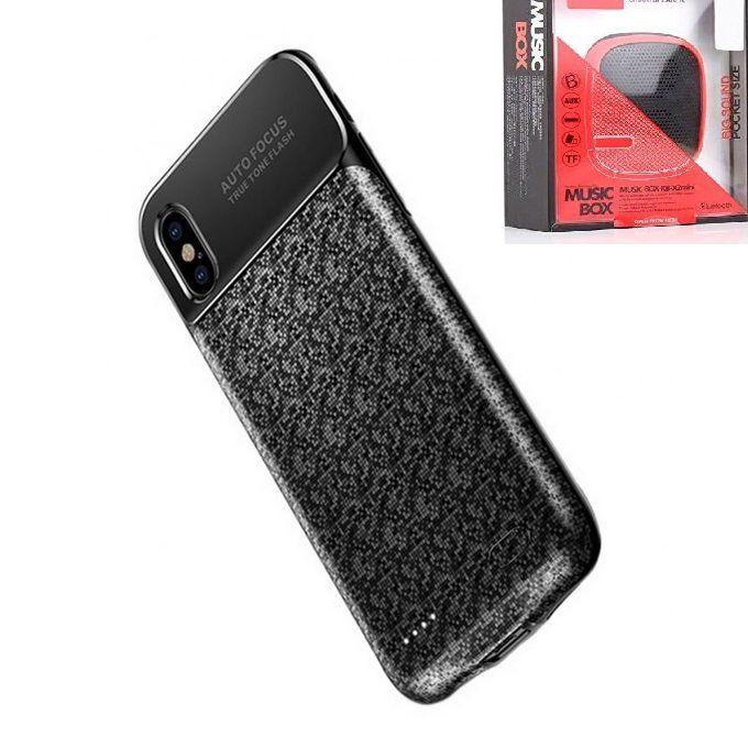 low priced 9df64 ac5f9 Battery Case For IPhone X - 3500mAh + Remax X2 Speaker Free