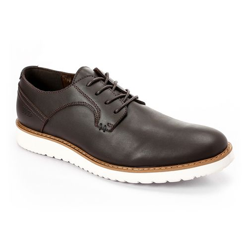 Men Casual To Business Derby Shoes - Dark Brown