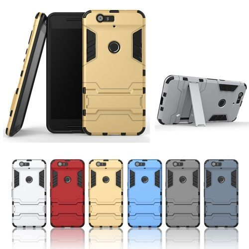 huge selection of 080cf 3a883 Case For Google/Huawei Nexus 6P Detachable 2 In 1 Hybrid Armor Case  Dual-Layer Shockproof Case Cover With Built-in Kickstand Silver