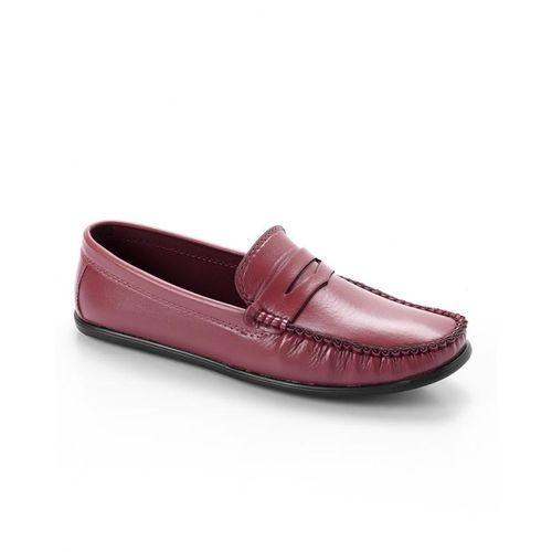 Elegant Slip On Men Shoes - Maroon