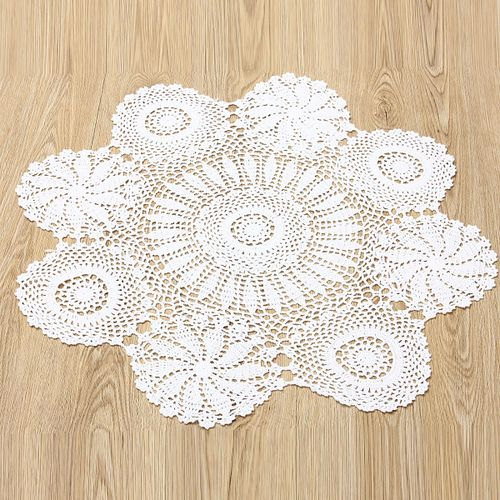 Sale On Crochet Lace Doily Placemat Table Mat Cloth Cotton Yarn