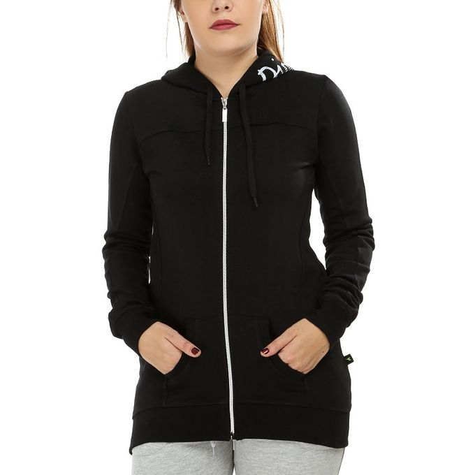 e703b216f7b Sale on Hooded Zipped Sweatshirt - Black