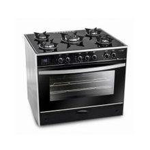 C6090GS-AC-383-IDSH-S I-Chef Smart بوتاجاز غاز مع مروحة - 5 شعلة