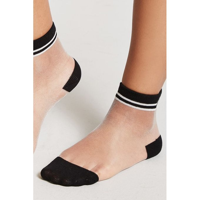 Sheer Mesh Crew Socks