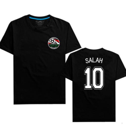 أفريقيا كأس مصر جديد رجال صلاح شعار القطن تي شيرت (الهدايا: الوشم)