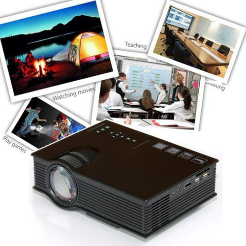Full HD 1080P LED/LCD 800 Lumens VGA HDMI USB TV Home Theater Cinema  Projector