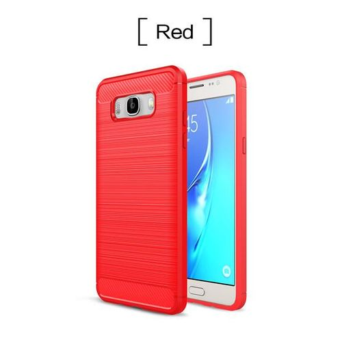 brand new 4c327 9a3fc Shockproof Phone Case For Samsung Galaxy J710 2016 J710 Cases Carbon Fiber  TPU Soft Silicone Cover (Red)