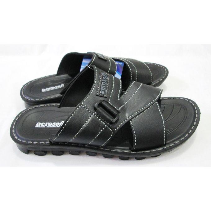 7eedacdfebaa3 Order Aerosoft Black Comfort & Medical Slipper For Men at Best Price ...