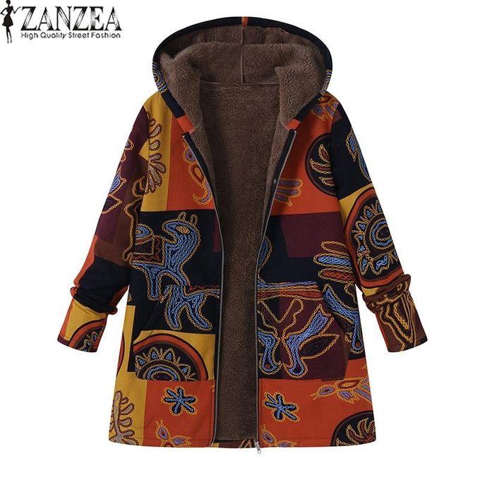 1eeae1bf8877d ZANZEA Women Plus Size Jacket Outerwear Top Zips Parka Loose Cotton Fleece  Coat