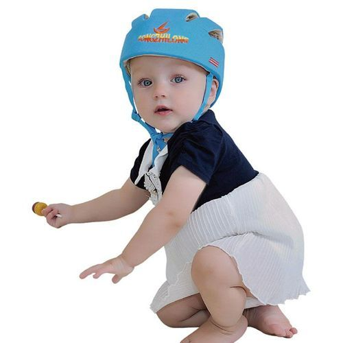 1c398c414 Cotton Infant Toddler Safety Helmet Baby Kids Head Protection Hat For  Walking Crawling (Blue)