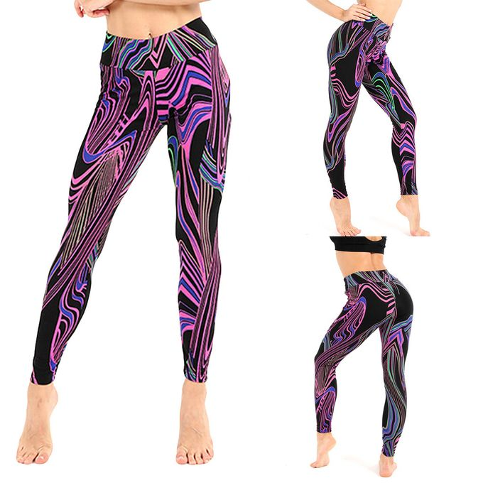 Order Ladies'Colorful Line Printing Exercise Fitness Running