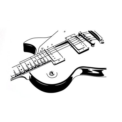 Sale On Removable Pvc Music Instrument Guitar Wall Sticker Home