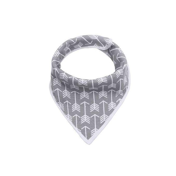 Triangle Baby Cotton Bibs Dot Pattern – Grey –  مصر