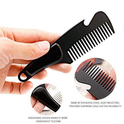 Dtrestocy_Beard BrushStainless Steel Beard Comb Beard Care CombBeard Comb  Oil Head Shap
