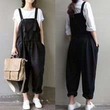 8e09bbd84f6d ZANZEA Rompers Womens Jumpsuit Autumn Hot Sale Sleeveless Casual Loose  Vintage Playsuits Trousers Solid Overalls Plus