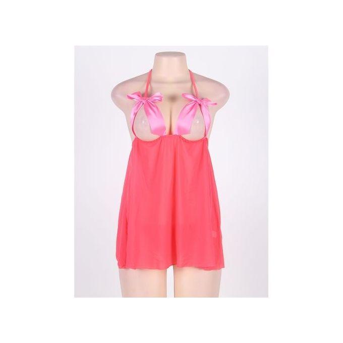 Sheer Babydoll - Pink