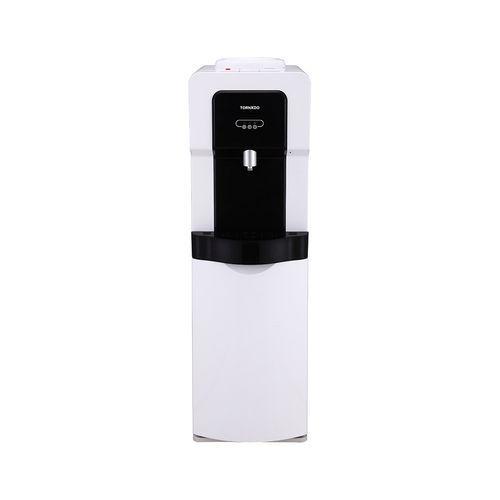 مبرد مياه تورنيدو مزود بكابينة وحنفية واحدة - أبيض × أسود