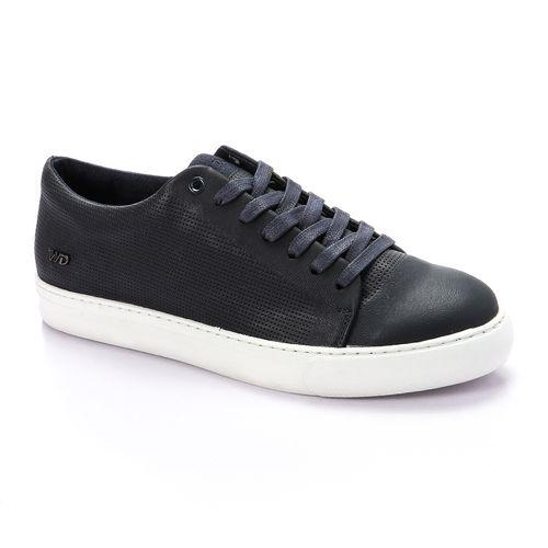 Lace Up Plain Shoes - Blue