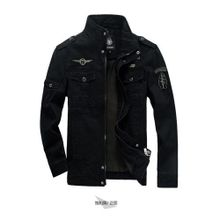 2336e6624c4c2a Black Cotton Washed Jacket Men Patchwork Uniforms Large Size Autumn And  Winter Europe Outdoor Jacket High