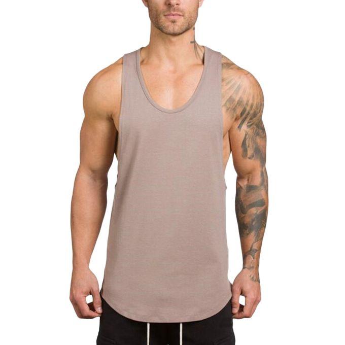 703c1b32627ce I Fashion Men s Gyms Bodybuilding Fitness Muscle Sleeveless Singlet T-shirt Top  Vest Tank