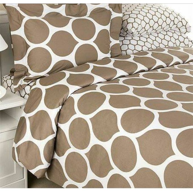 Printed Bed Linen Set – Brown –  مصر