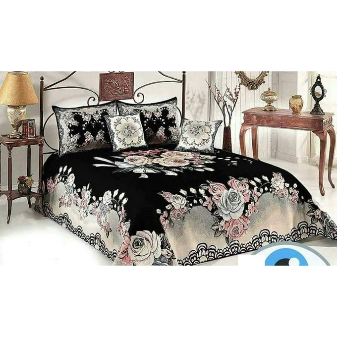 Floral Bed Sheet Set – 6 Pcs – Multicolored  –  مصر