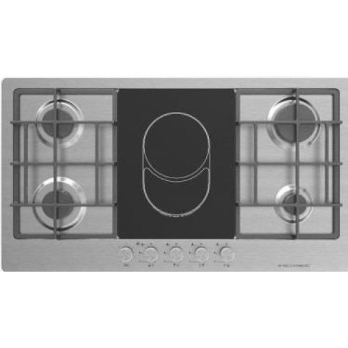 S963XLV Stainless Steel Built In Gas & Electric Hob - 92 Cm