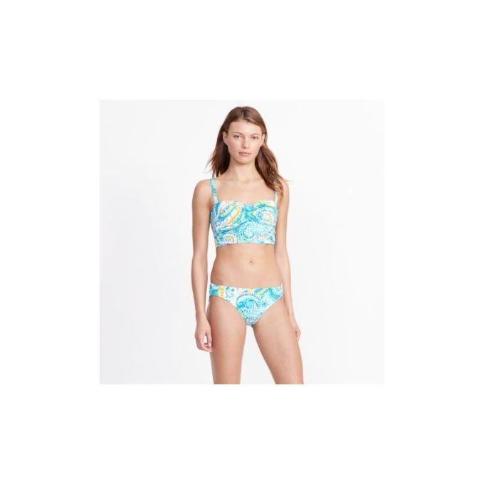 Paisley Cropped Bikini Top