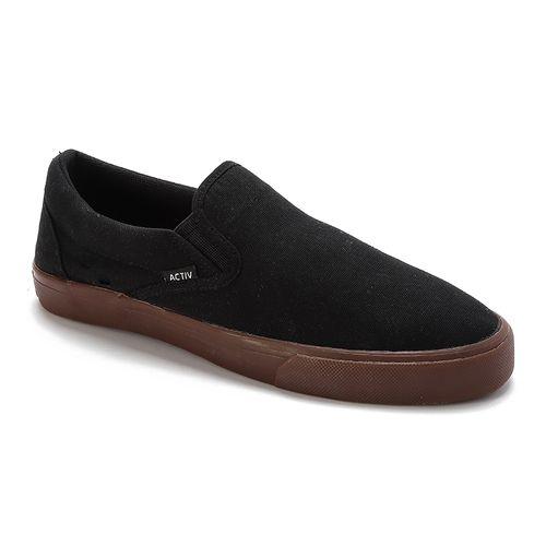 Plain Slip On Shoes- Black