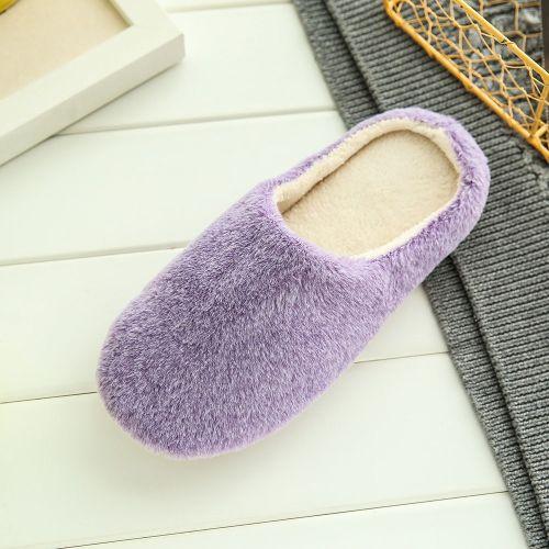 Women Warm Home Soft SlippersAnti-slip Winter Floor Bedroom Shoes
