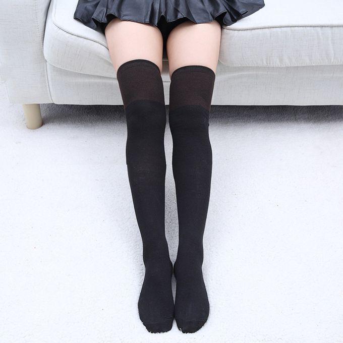 2bd548a55 Sale on 1 Pair Fashion Thigh High Over Knee High Socks Girls Womens ...