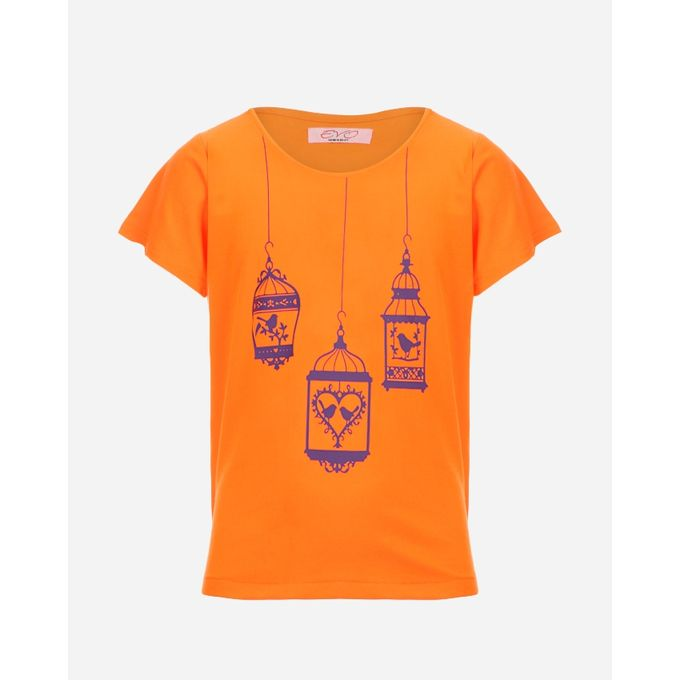 Sale on evo girls printed t shirt neon orange jumia for Neon printed t shirts